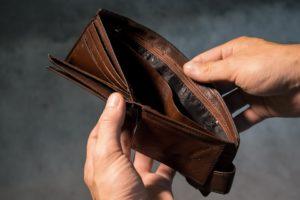 manque d'argent